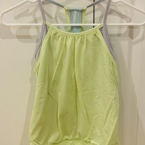 Ivivva Double Dutch Tank Top (Lime Green/Gray)